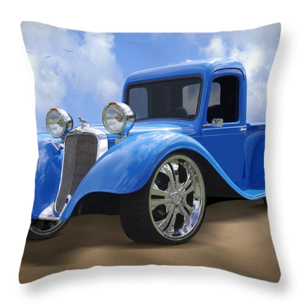 34 Dodge Pickup Throw Pillow by Mike McGlothlen