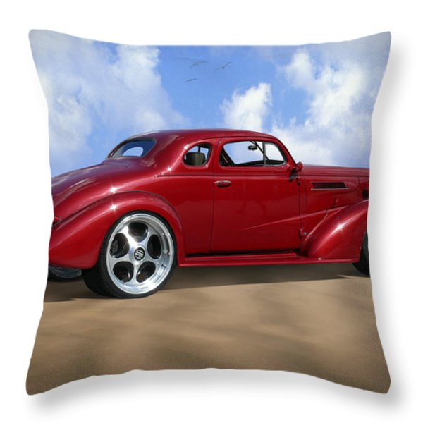37 Chevy Coupe Throw Pillow by Mike McGlothlen