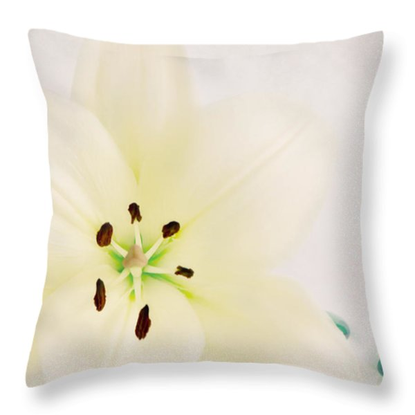 Beauty Throw Pillow by Angela Doelling AD DESIGN Photo and PhotoArt