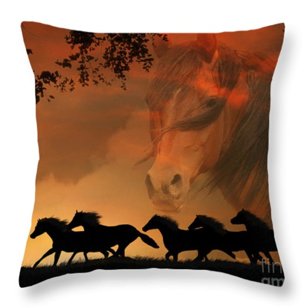 4-ever Free Throw Pillow by Stephanie Laird