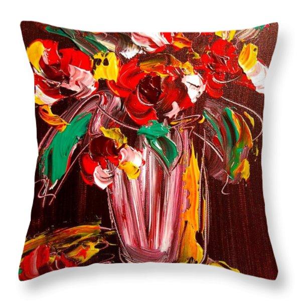 Flowers Throw Pillow by Mark Kazav