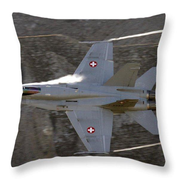 Supersonic Throw Pillow by Angel  Tarantella