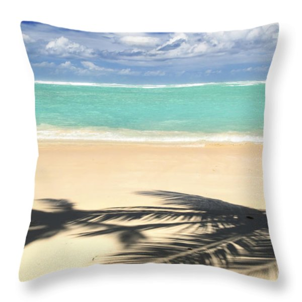 Tropical beach Throw Pillow by Elena Elisseeva