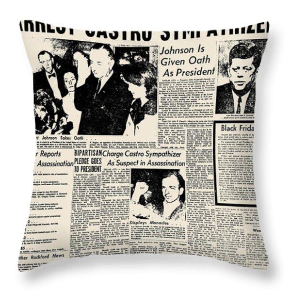 John F. Kennedy (1917-1963) Throw Pillow by Granger