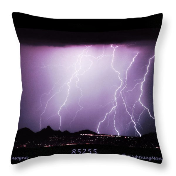 85255 Fine Art Arizona Lightning Photo Poster Throw Pillow by James BO  Insogna
