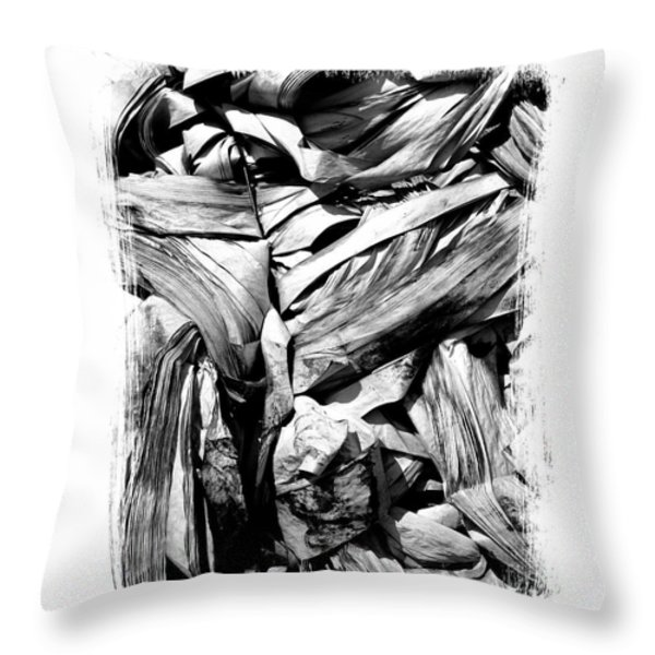 Compressed pile of paper products Throw Pillow by BERNARD JAUBERT