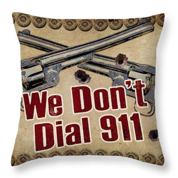 911 Throw Pillow by JQ Licensing