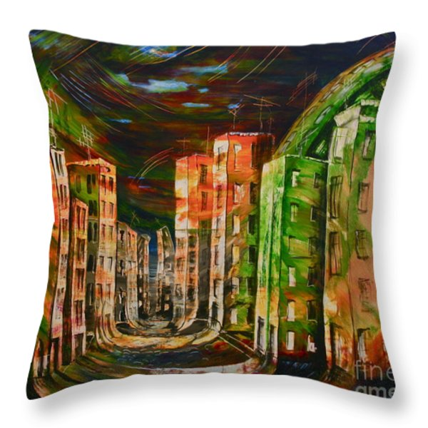 9.november 1989 Throw Pillow by Carola Eleonore Thiele
