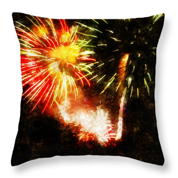 A 4th Celebration  Throw Pillow by Adam Vance