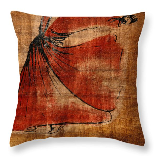 A Beautiful Painting Of A Whirling Throw Pillow by Gianluca Colla