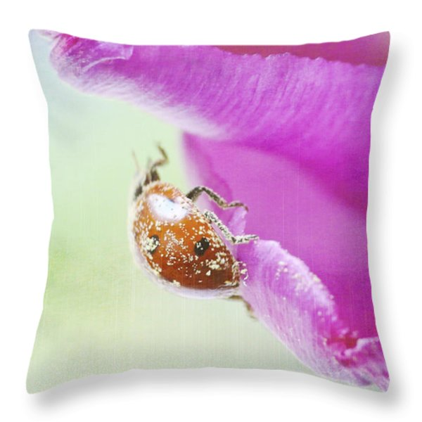 A breath of spring Throw Pillow by Angela Doelling AD DESIGN Photo and PhotoArt