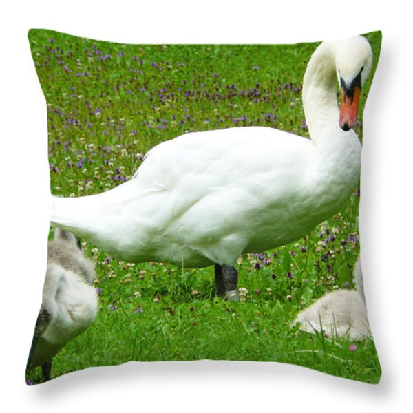 A Caring Mother Throw Pillow by Daniel Csoka