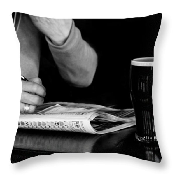 A Day at the Races Throw Pillow by Dawn OConnor