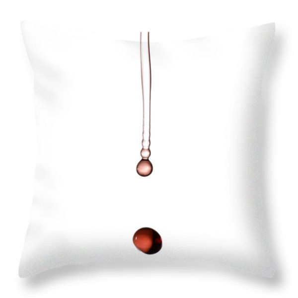 A Drop Of Wine Throw Pillow by Frank Tschakert