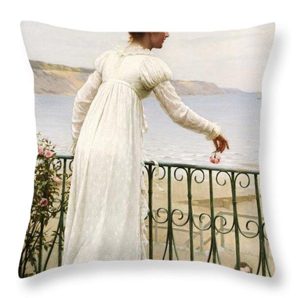 A Favour Throw Pillow by Edmund Blair Leighton