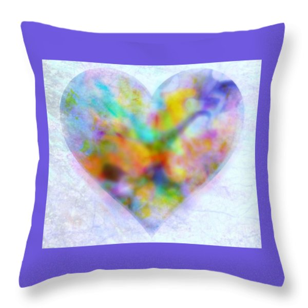 A Gentle Heart Throw Pillow by WBK