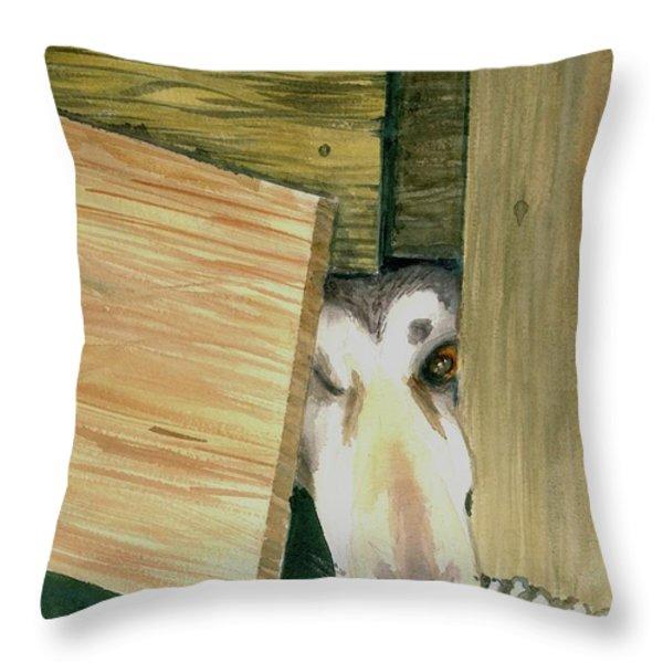 A great escape  -variation 2 Throw Pillow by Yoshiko Mishina