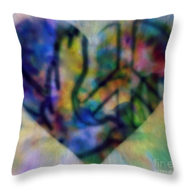 A Heart For Peace Throw Pillow by WBK