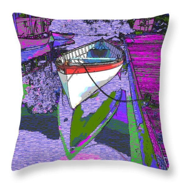 A Lakeside Wonderful Throw Pillow by Tim Allen