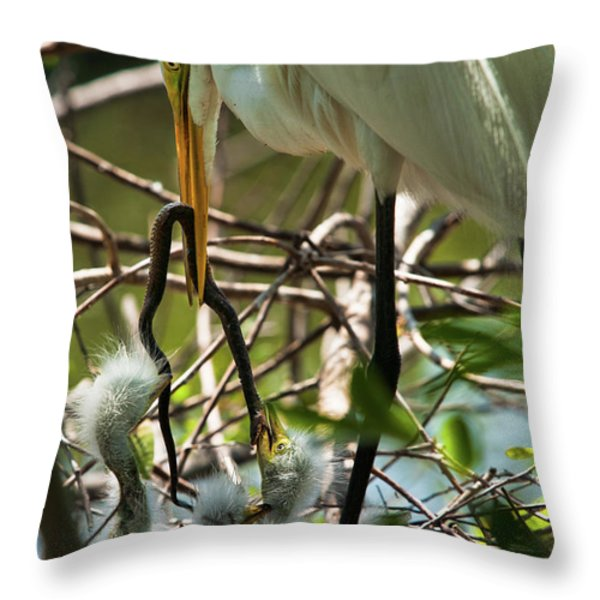 A Lively Lunch Throw Pillow by Christopher Holmes