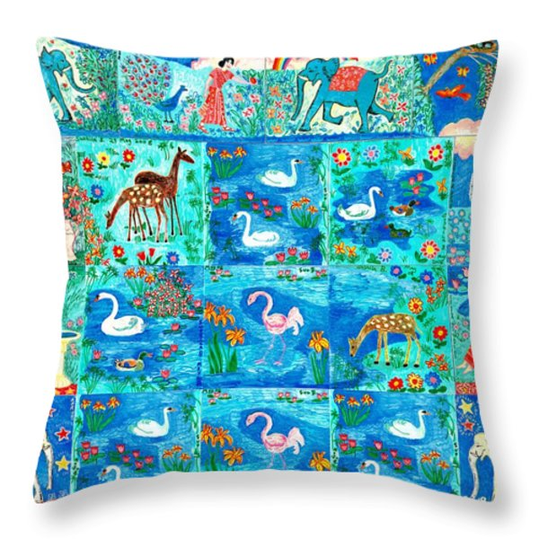 A magic country Throw Pillow by Sushila Burgess
