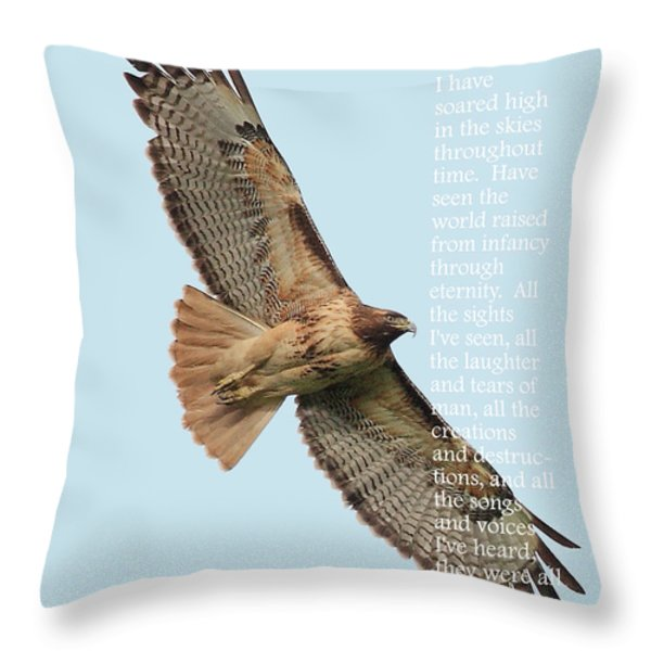 A Moment In Time . Poetry Series Throw Pillow by Wingsdomain Art and Photography