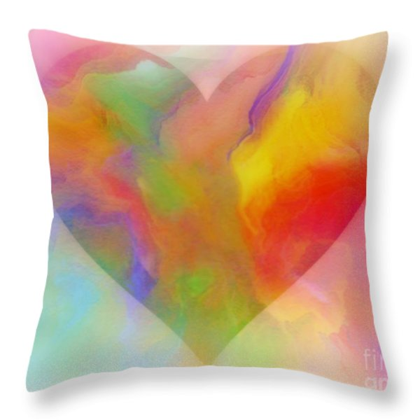 A Moment Of Love Throw Pillow by WBK