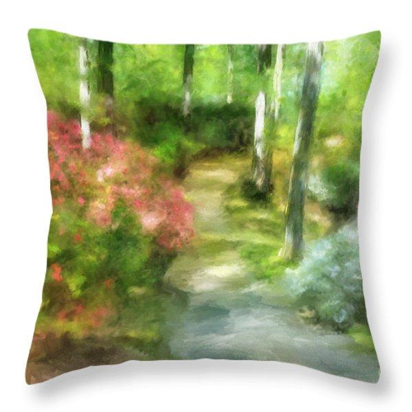 A Morning Walk at Brighton Throw Pillow by Lois Bryan