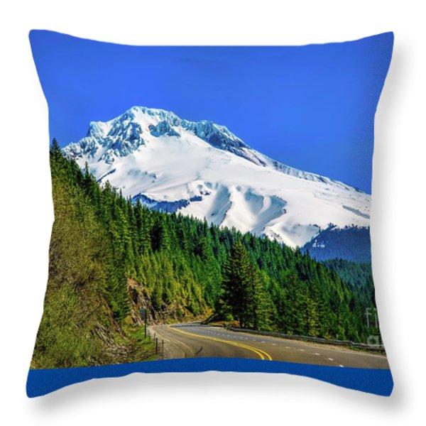A Mountain Called Hood Throw Pillow by Jon Burch Photography