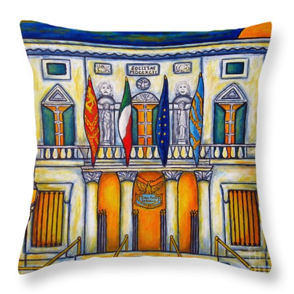 A Night at the Fenice Throw Pillow by Lisa  Lorenz