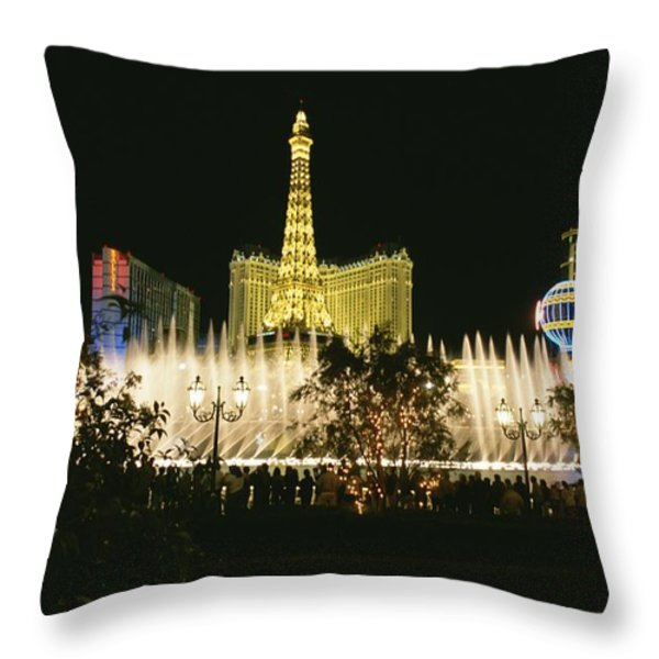 A Night View Of The Water And Light Throw Pillow by Heather Perry