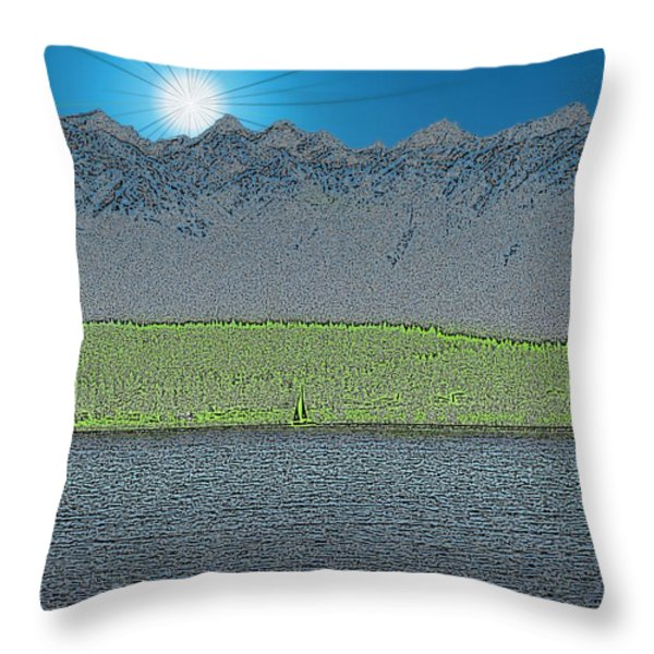 A Perfect Ending Throw Pillow by Tim Allen