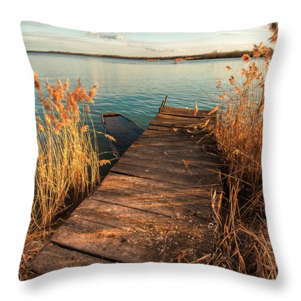A place where lovers meet Throw Pillow by Davorin Mance