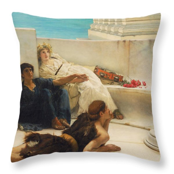 A Reading From Homer Throw Pillow by Celestial Images