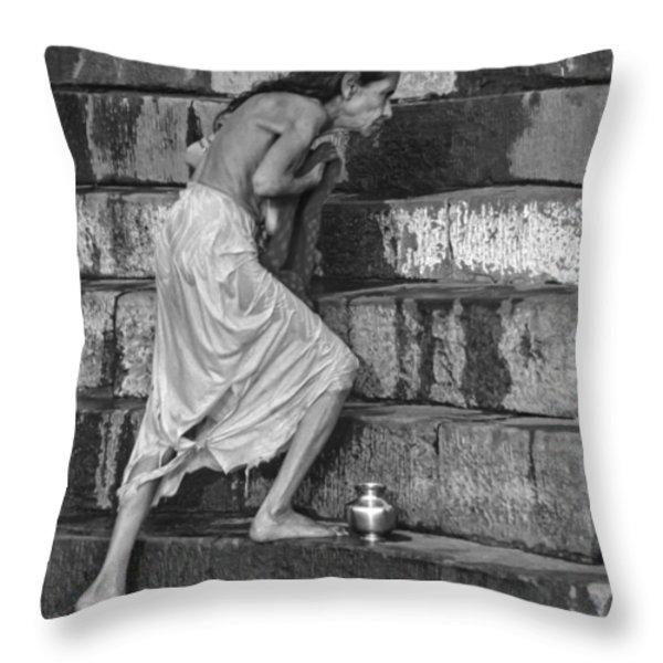 A Sacred Place Bw  Throw Pillow by Steve Harrington
