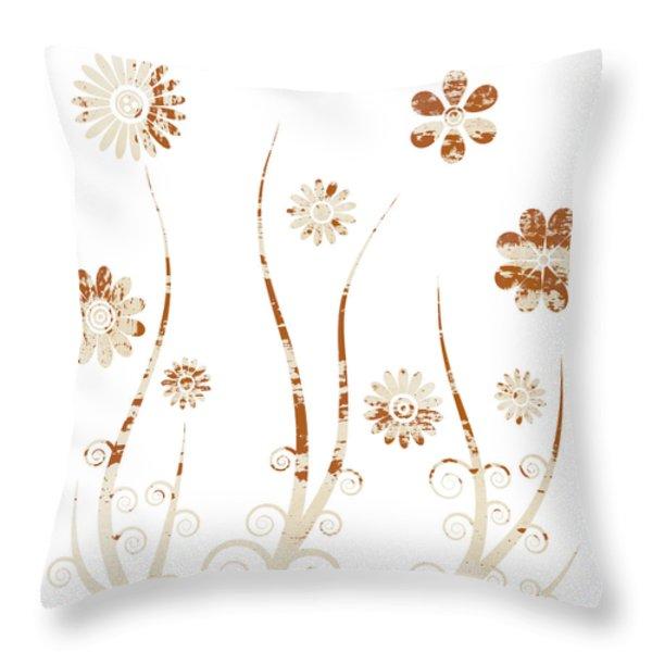 A shabby meadow Throw Pillow by Frank Tschakert