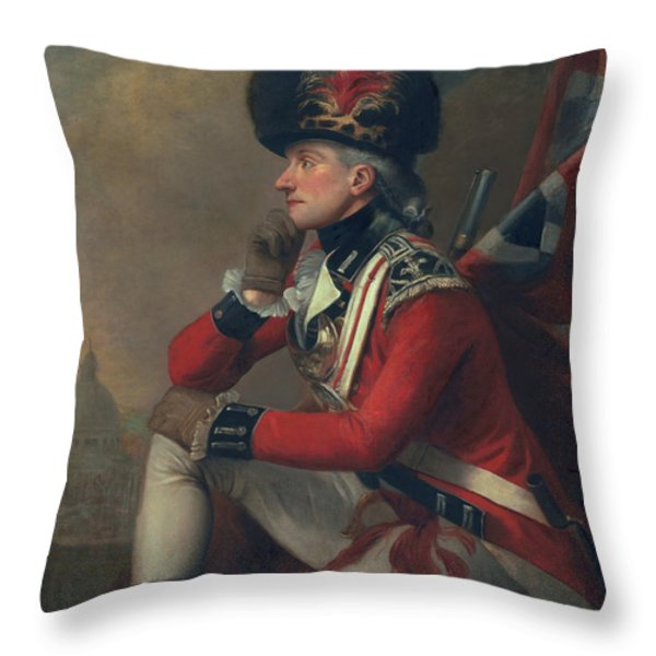 A Soldier Called Major John Andre Throw Pillow by English School
