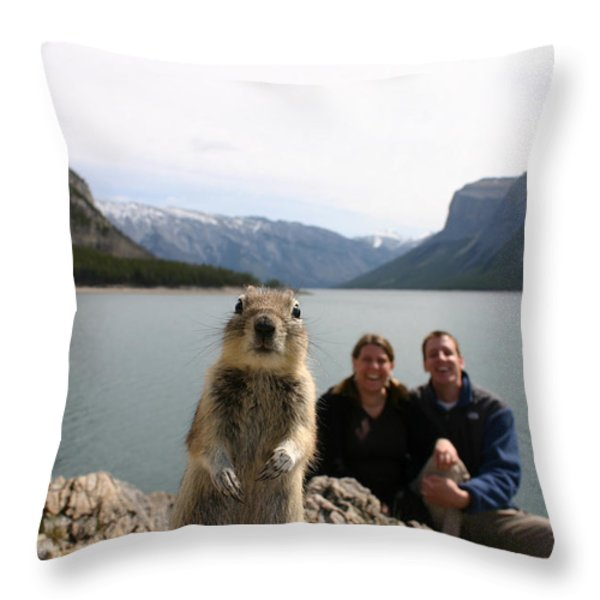 A Squirrel Takes The Shot By Tripping Throw Pillow by Melissa Brandts/National Geographic My Shot