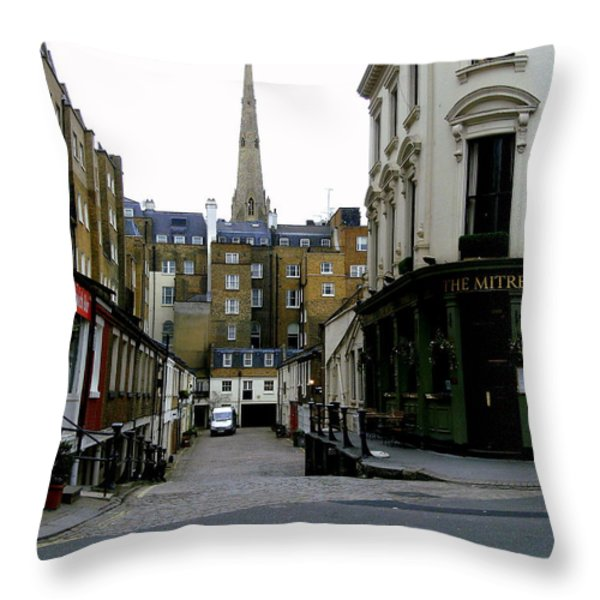A Street In London Throw Pillow by Mindy Newman