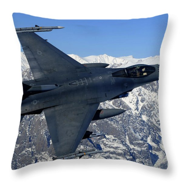 A U.s. Air Force F-16 Fighting Falcon Throw Pillow by Stocktrek Images