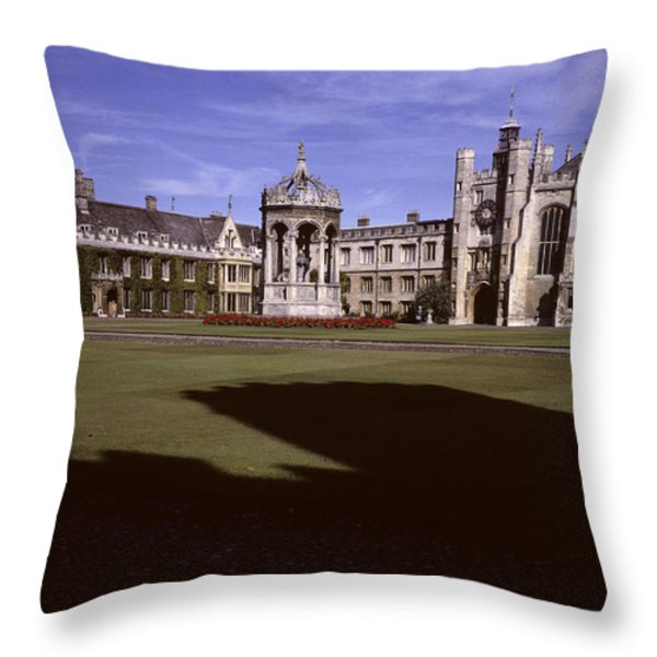 A View Of The Courtyard Of Trinity Throw Pillow by Taylor S. Kennedy