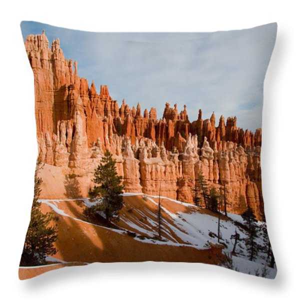 A View Of The Hoodoos And Other Eroded Throw Pillow by Taylor S. Kennedy