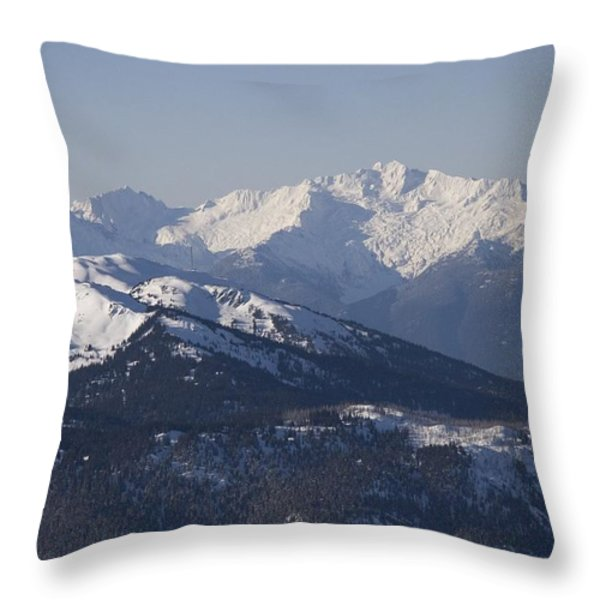 A View Of The Mountains Throw Pillow by Taylor S. Kennedy