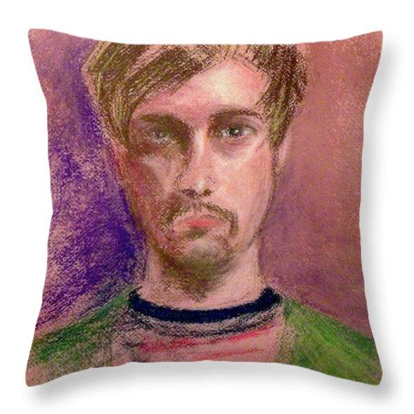 A Young Artist Throw Pillow by Yoshiko Mishina