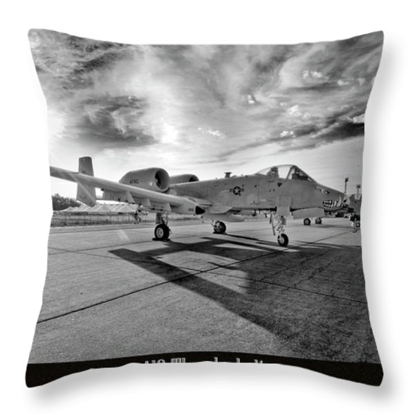A10 Thunderbolt Throw Pillow by Greg Fortier