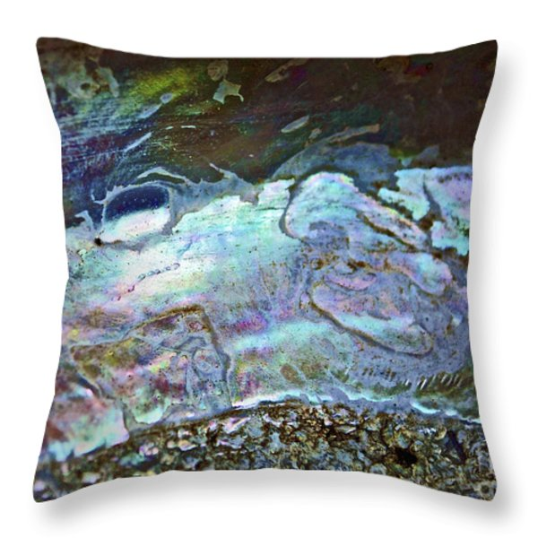 Abalone Stories Throw Pillow by Gwyn Newcombe