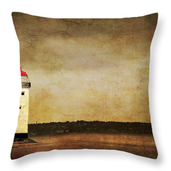 Abandoned Lighthouse Throw Pillow by Meirion Matthias