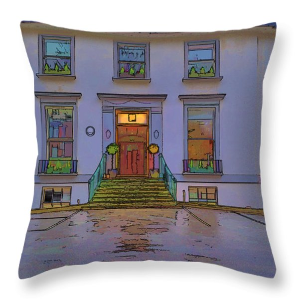 Abbey Road Recording Studios Throw Pillow by Chris Thaxter
