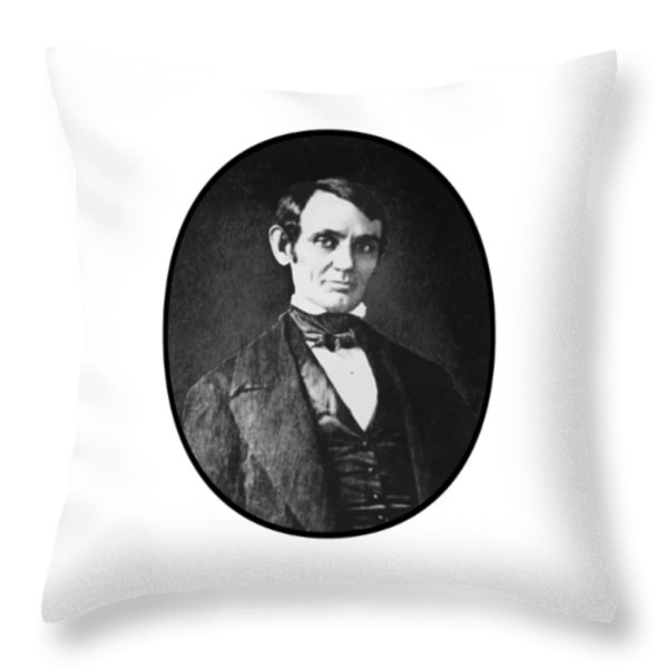 Abe Lincoln As A Young Man  Throw Pillow by War Is Hell Store