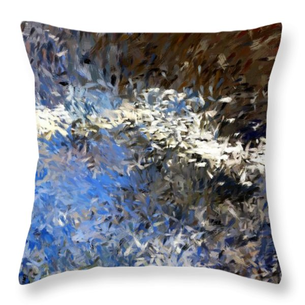 abstract 06-03-09b Throw Pillow by David Lane